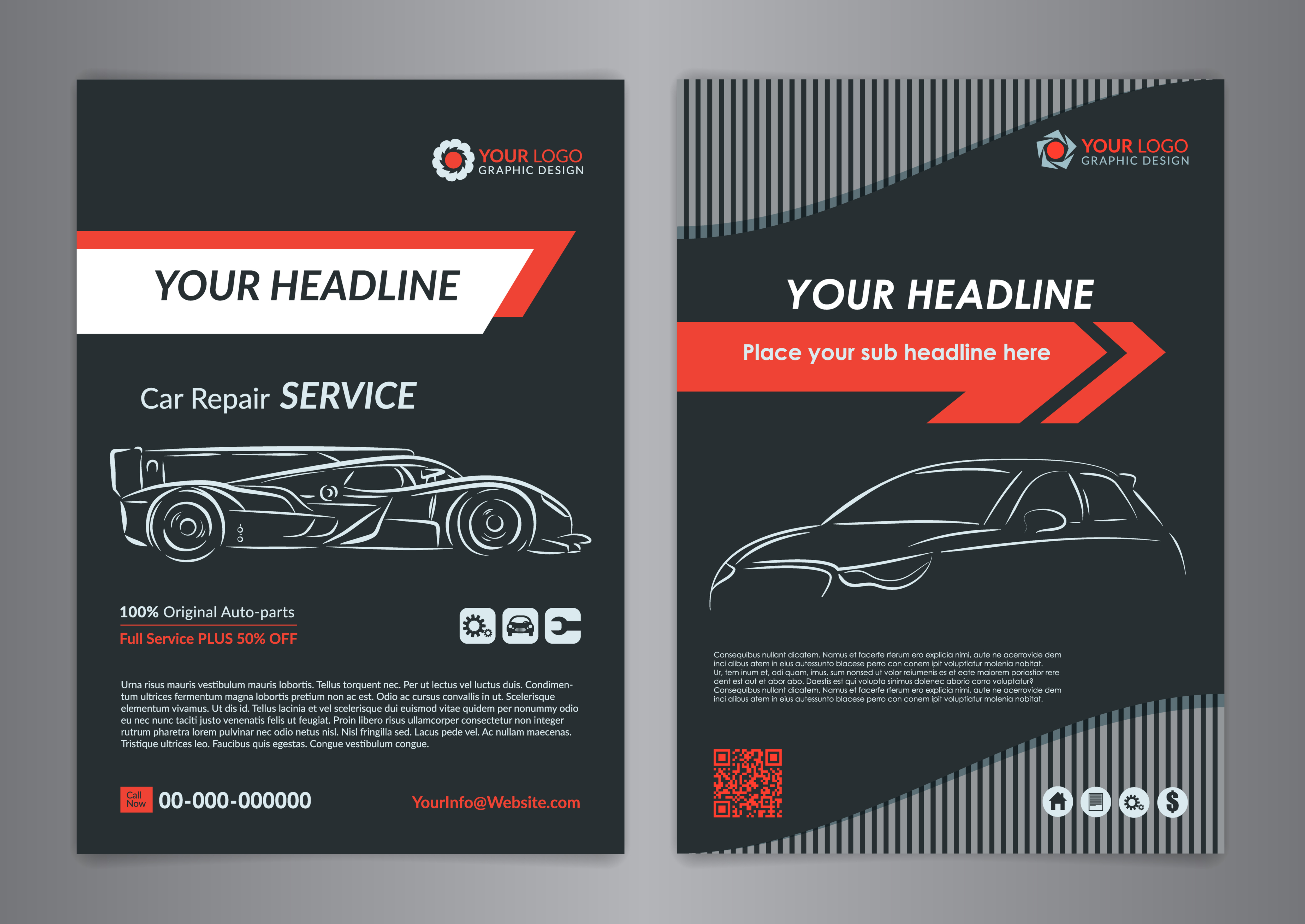 flyer template for auto repair ads.